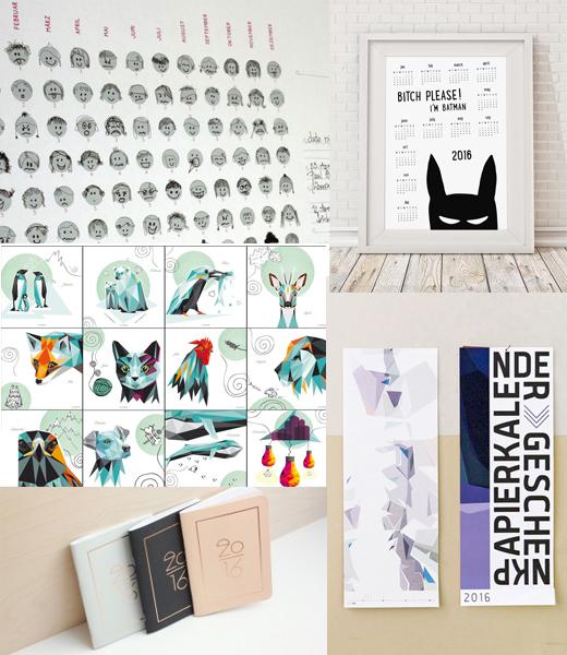 Kalender und Jahresplaner 2016 Design, Grafik, Typo und Illustration