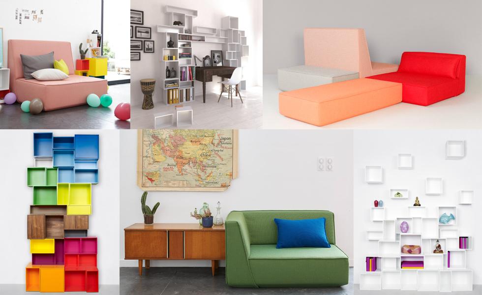 Modulares Regal- und Sofasystem zum selbst entwerfen von Cubit mit Konfigurator, Möbel, individuell