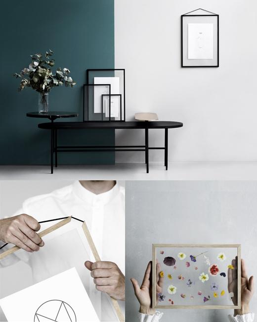 FRAMES Glasrahmen von moebe mit Acrylglasscheiben und Holzrahmen für Blumen und Blätter