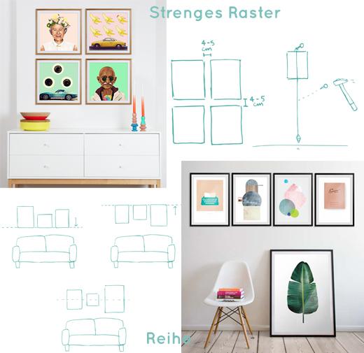 Hanging Guide - Bilder richtig aufhängen in einem strengen Raster oder einer klaren Reihe
