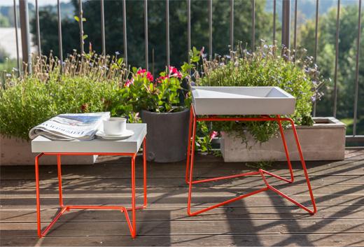 Hocker und Tisch Lito mit Betonplatte und Betonsitzfläche von Betoniu aus Leipzig, betonmöbel, betontische, betonstühle, gartenmöbel