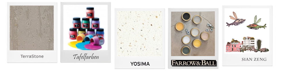 Wandgestaltung selber machen mit Lehmputz, Beton, Terrastone, Farbe, Tapete, Magnetfarbe oder Tafellack