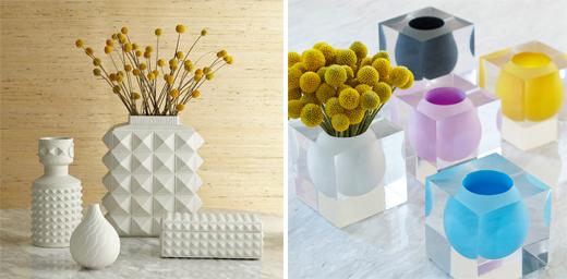 Dekorieren mit Blumenvase in Weiss und Pastell