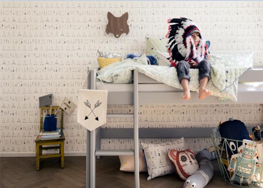 Ökologische Möbel für Kinderzimmer mit Hochbett, ferm living, design, skandinavien