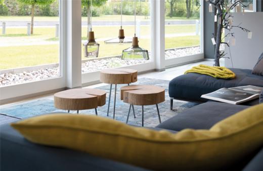 Ökologische Möbel, schadstoffrei und zertifiziert aus Holz und anderen natürlichen Materialien fürs Wohnzimmer