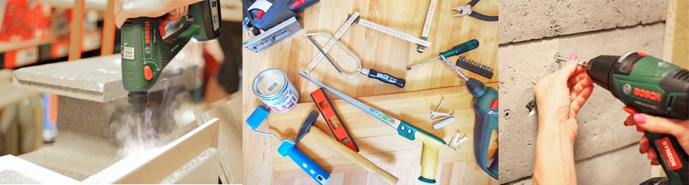 Handwerker und Heimwerker Tipps und Anleitungen für Zuhause zum Thema Bohren, Dübeln, Sägen und Anstreichen