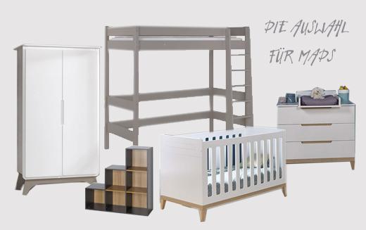 Ökologische Kindermöbel aus Frankreich mit mitwachsendem Babybett, Hochbett, Wickelkommode und Kinderkleiderschrank