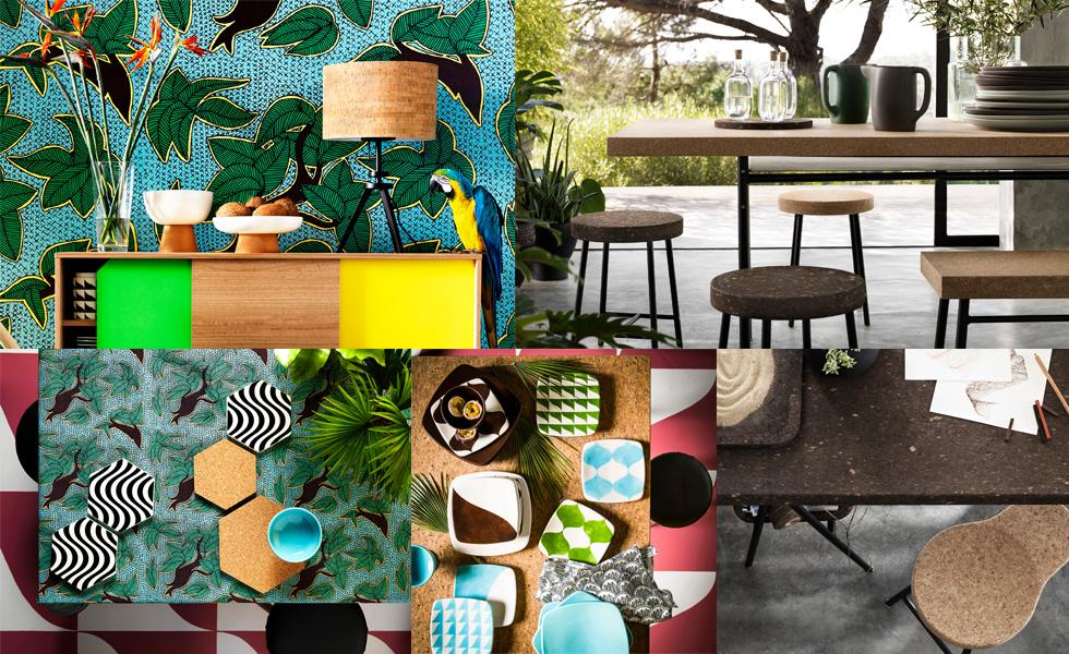 Möbel und Wohnaccessoires mit Kork von Ikea - Kollektion Tillfaelle und Sinnerlig