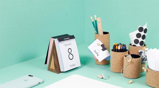 Büro- und Schreibtischaccessoires selber machen mit Kork - welikemondays, DIY, Stifthalter, becher