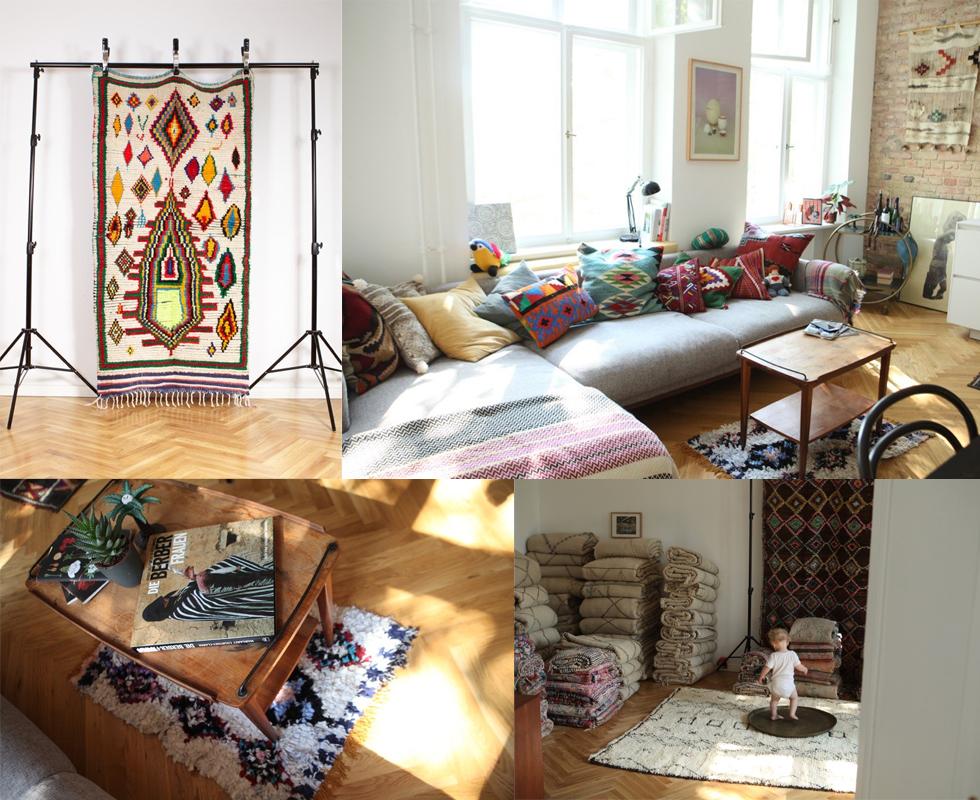 perserteppich und Orientteppiche von berberlin - Der Wohntrend mit Kelims, Beniourain, Azilal und Boucherouite