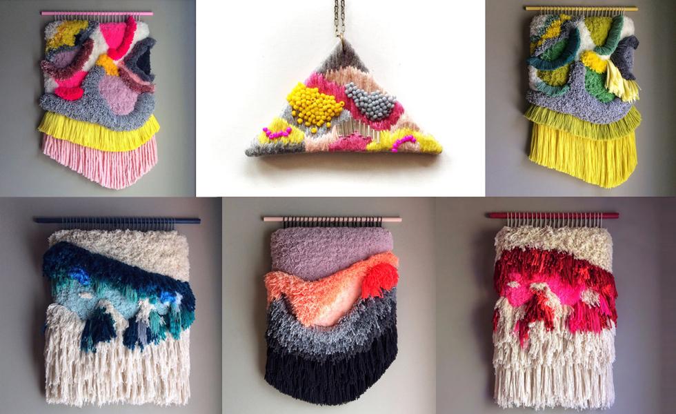 Wandteppich und Schmuck von jujujust aus Textil und Stoffresten, Handgemacht, DIY, online bestellen, Ketten