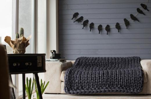 Chunky Knit Decke im XXL Format von KnitCoutureCo