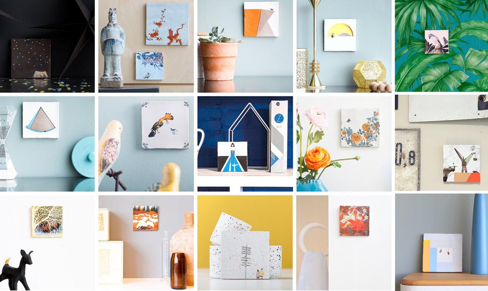 Kacheln und Fliesen bedruckt mit Kunst und Illustration von StoryTiles