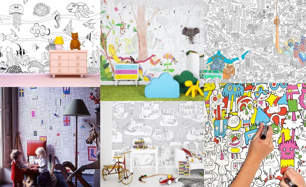 Tapete und XXL Poster für Kinder zum Ausmalen online bestellen