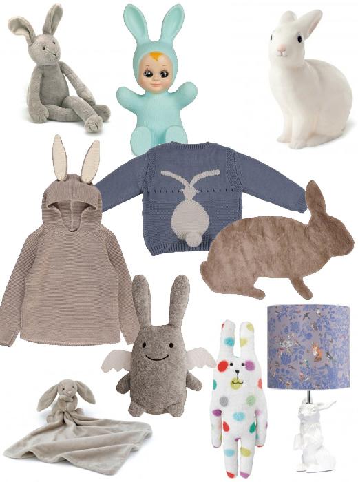 Hasen als Kuscheltier, Lampen oder Pullover im Kinderzimmer von Smallalble, online bestellen