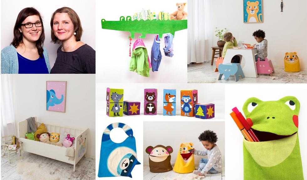 Spielzeug und Möbel aus Holz für Kinder von Julica - Gründerinnen Julia Kaupitwa und Carolin Malur