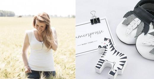 Gründerin Katharina Rosbach entwirft Baby Mokassins aus Leder, onlineshop, moccs, krabbelschuhe