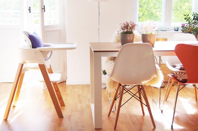 STOKKE Steps Kinderstuhl in Weiß mit Holz, Hochstuhl, Designerstuhl, Design