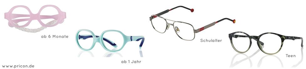 Brillen für Babys, Kleinkinder, Schulkinder und Teenager online bestellen