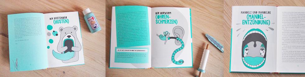 Kinderbuch, das Krankhiten erklärt - Hallo Herr Husten, Guten Tag Fra Bachweh von Folke und Sophie Tegetthoff