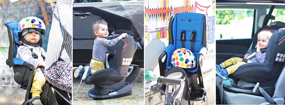 Empfelungen und Test von Römer Jockey Fahrradsitz und Autositz für Kinder Maxi Cosi Tobi