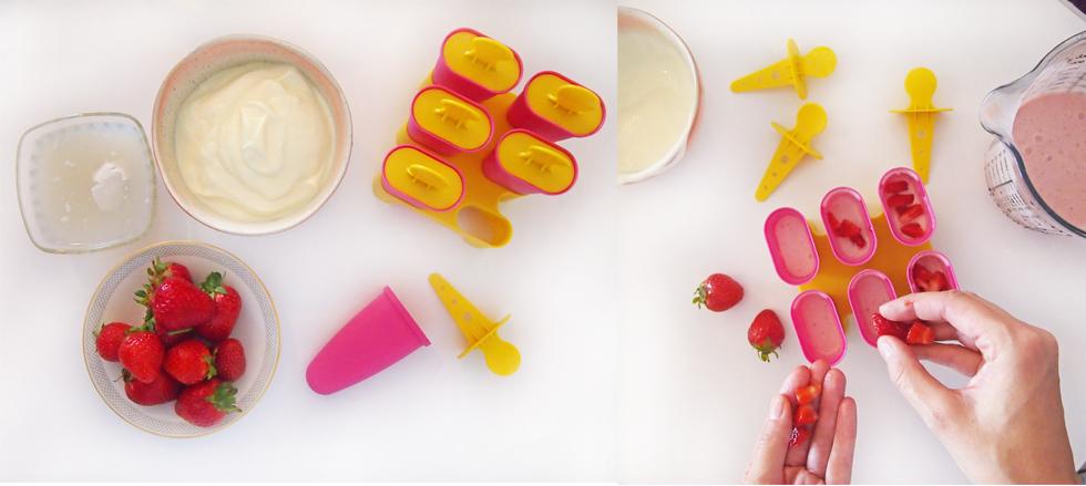 Mittsommer Fest - Ideen, Dekoration und Rezept für Erdbeerschnecken mit Pudding und Erdbeer-Joghurt-Eis selber machen