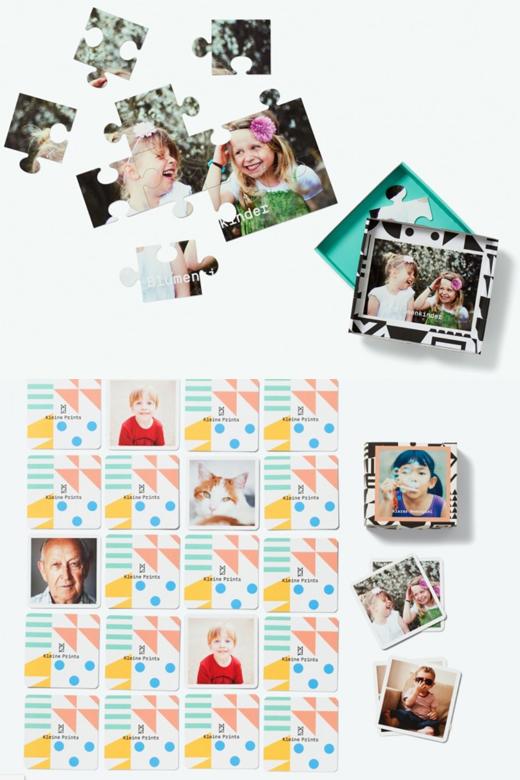 foto memory und foto puzzle selber gestalten für kinder bei kleine prints