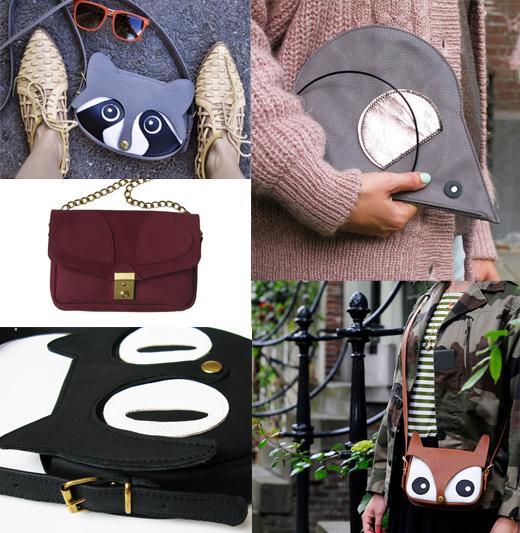 Taschen aus Leder von La Lisette aus Amsterdam - Monstera Blatt, Herz, Tiere, Ledertaschen, Kindertaschen