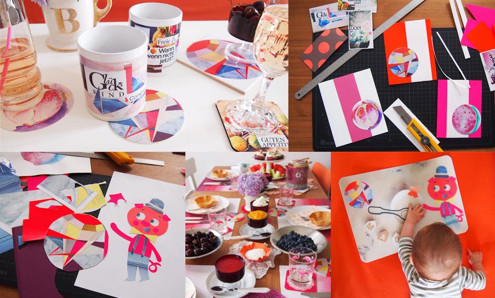 Tischdekoration selber machen, Fotos und Collagen ausdrucken auf Bierdeckeln, Tassen, Fotofliesen, Tischsets, Untersetzern und mehr