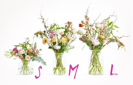 Unterschiedliche Größen und Preise als Abo - Bloomon - Lieferdienst für frische Blumensträuße mit Blumenabo nach Hause bestellen