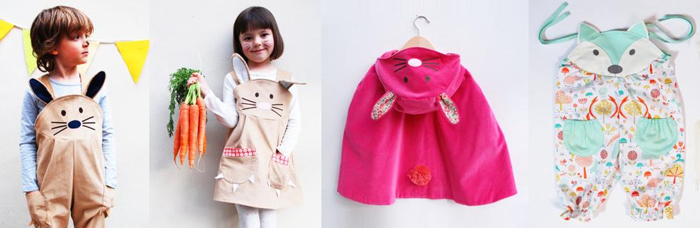 Kinderkostüme mit Tieren, Hasen und bunten Motiven von Kirsty Hartley online bestellen