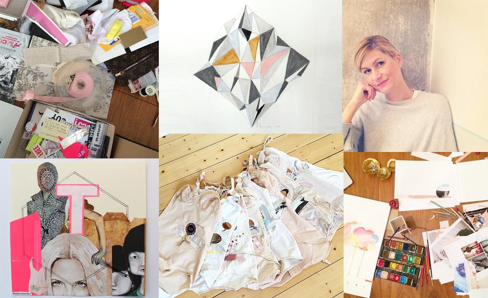 Interview mit Künstlerin Carolin Samson von Day Date, Geschenktipps, Idee, Inspirationen, Collagen