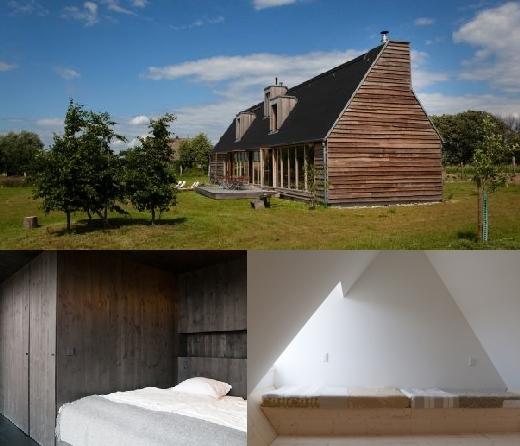 Das Schwarze Haus, Brandenburg/Pinnow, als Ferienhaus zu mieten, Design, Architektur