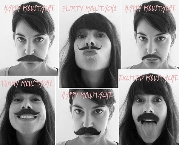 Anja und Berit mit Moustache