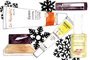 Gesichtspflege für den Winter - Cremes und treatments, Illustration, Cremetube