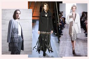 Modetrend Fransen im Herbst Winter 2014/15, Fransen aus Leder oder Strick