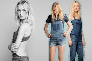 Trend 2014 latzhosen aus Jeans kurz oder lang