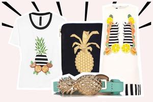 Mode mit Ananas und anderem Obst