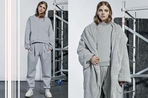 Herbst/Winter Kollektion 2014/15 von TVORTZ aus der Ukraine mit Home Wear und XXL-Mänteln, online bestellen, Mantel grau