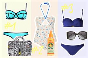 Bademodentrends im Sommer 2015 - 3 Looks mit Bikini und Badeanzug und die passenden Accessoires