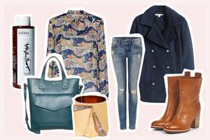Herbsttrend, Styling mit Cabanjacke, Schluppenbluse, Skinny Jeans und Stiefeletten, online bestellen, nachkaufen, shop the look, modetrend, outfit