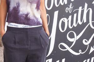 Calin Klein Underwear Slip mit Logo in Weiß für Damen - Das Comeback der 90er im Styling, online bestellen