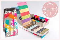 CMYK Colour Swatch Calendar von Peter von Freyhold aus dem Verlag Hermann Schmidt, Kalender 2016, Farbkarte