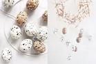 DIY Ostereier mit Terrazzo Muster in Schwarz Weiss selber machen