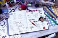 Notizbuch mit Klebepunkten von Dotty Edition