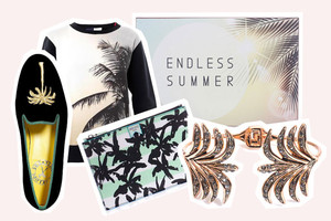 Palmen als Print auf Sweatshirts und T-Shirts