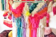 Geknüpfte Wandteppiche von jujujust, Handmade aus den USA, Textilien, Stoffe, Reste, DIY, online bestellen