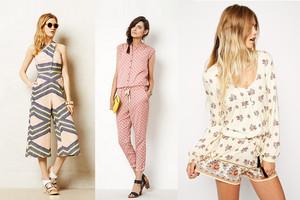 Jumsuits und Overalls im Sommer 2014 - Jeans, Blumenmuster, trägerlos, Culottes, online bestellen
