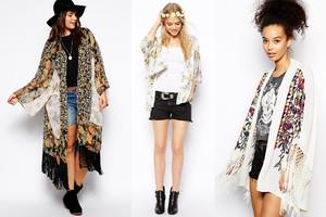 Kimonos in lang und kurz, bestickt und mit Fransen bei asos online betellen