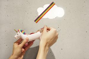Klebstreifenabroller mir Einhorn und Regenbogen Klebeband